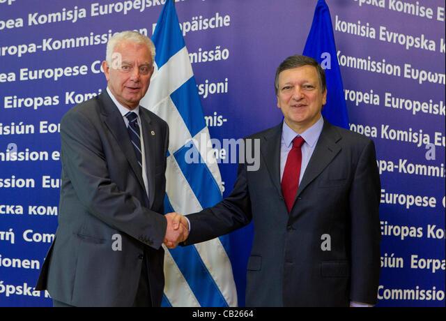 Greek Prime Minister Panagiotis Pikrammenos - Stock Image