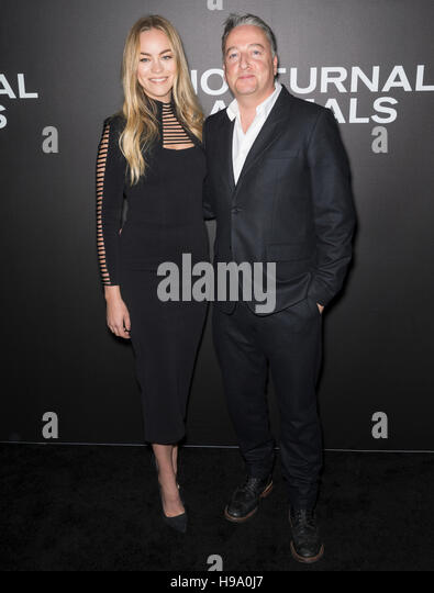 New York City, USA - November 17, 2016: Cinematographer Seamus McGarvey (R) and guest attend the 'Nocturnal - Stock Image