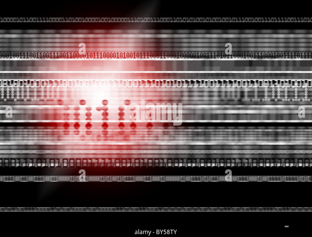 Red Light Illustration relating to data and web security - Stock-Bilder