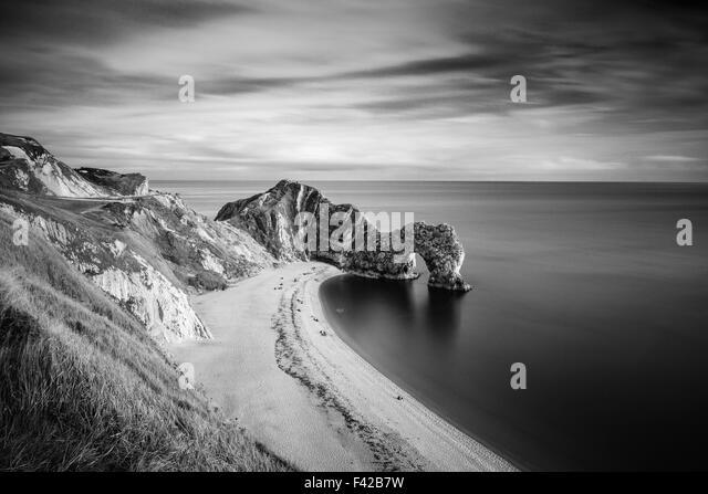 Durdle Door, Jurassic Coast, UNESCO site, Dorset, England, UK - Stock Image