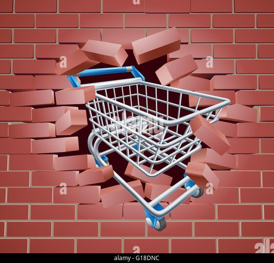 breaking through bricks stock photos amp breaking through