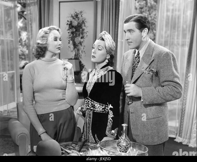 ROMANCE IN THE DARK 1938 Paramount Pictures film with from left: Claire Dodd, Gladys Swarthout, John Boles - Stock-Bilder
