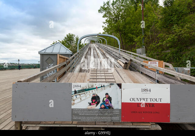 A toboggan slide at the governor's promenade, Quebec City, - Stock Image