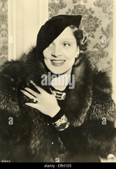 Marlene Dietrich Film star - Stock Image