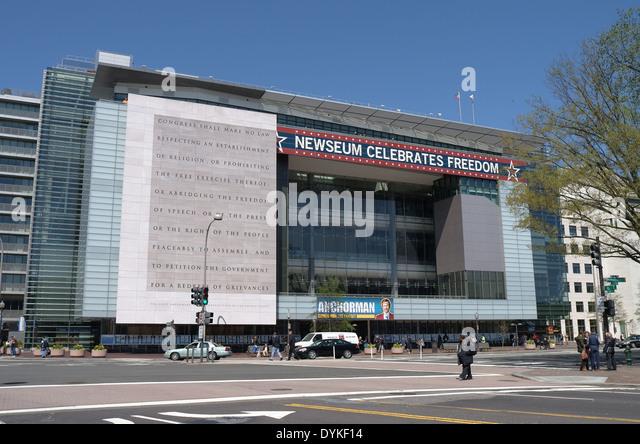 Newseum in Washington, D.C. - Stock Image