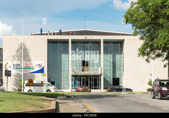 Office of The Prime Minister at Parliament Building, Robert Magabe Avenue, Windhoek (Windhuk), Khomas Region, Republic - Stock Image