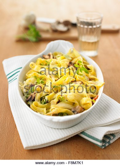 Chinese cabbage pasta bake - Stock Image