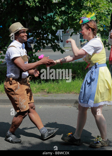 Germany Berlin Carnival of Cultures merry dancers - Stock-Bilder