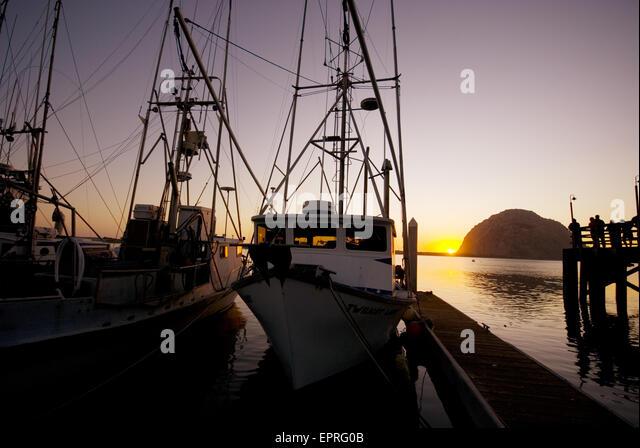 Fishing docks stock photos fishing docks stock images for Morro bay deep sea fishing