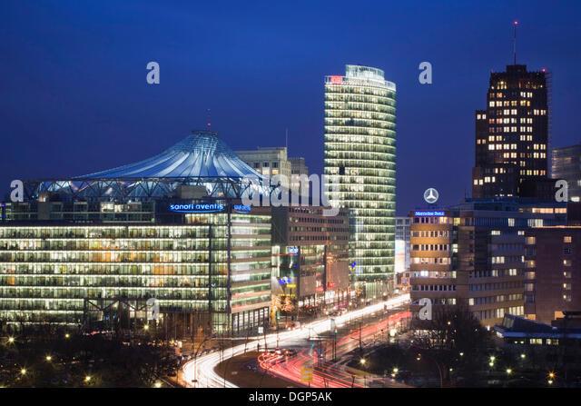 ... Center, DB Tower , Beisheim Center, S Bahn Entrance, Berlin Center