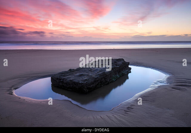 Sunset at Southerndown Beach. - Stock Image