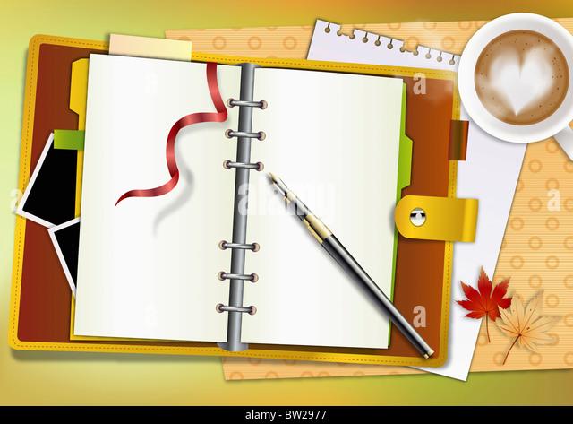 autumn air in illustraion - Stock Image