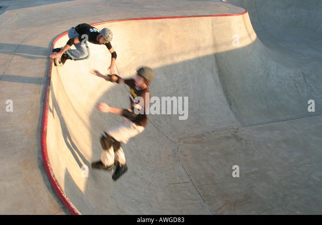 Alabama Huntsville Insanity Skate Park and Miniature Golf - Stock Image