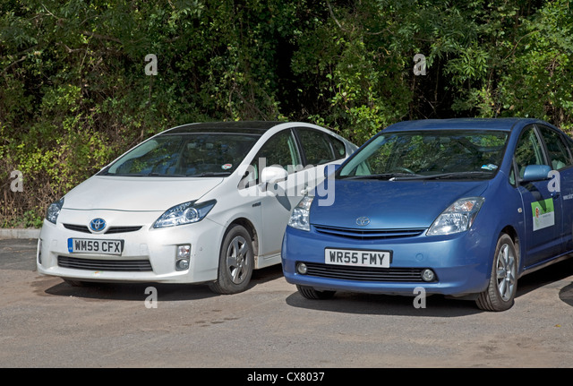 Toyota Prius electric hybrid car UK - Stock Image