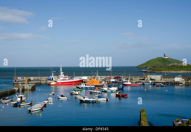 Ballycotton Harbour, Ballycotton Marina,colorful boats, County Cork, Ireland - Stock Image
