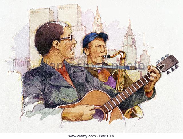 Singing the Blues - Stock-Bilder