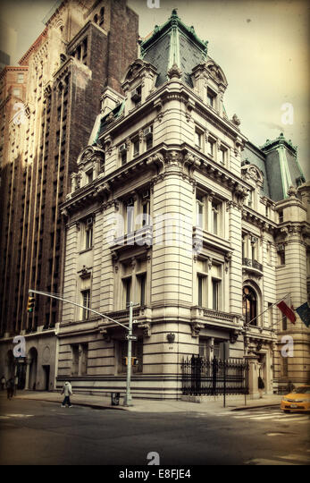 USA, New York State, New York City, Building on Madison Avenue - Stock Image
