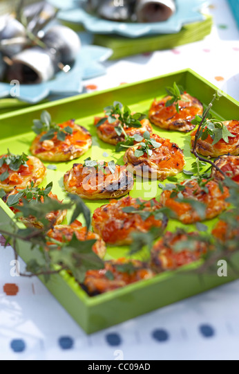 Tomato and Pepper Tartlets - Stock Image
