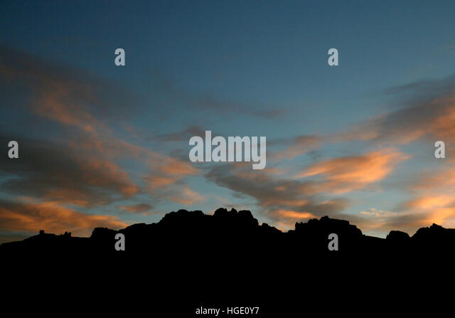 Sunset and clould  Dinosaur National Monument Utah - Stock Image