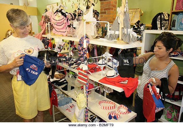 Indiana Valparaiso Bark and Meow Pet Boutique and Bakery Hispanic woman women cat animal feline costume clothing - Stock Image