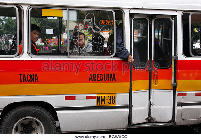 Bus in Lima, Peru. - Stock Image