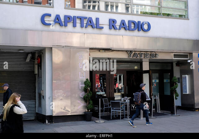 A general view of Capital radio in Leicester Square - Stock Image