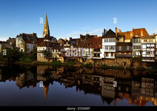 Argenton sur Creuse, Indre, France - Stock Image