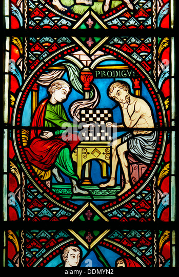 'Prodigal Son' window at Feltwell, Norfolk, 1964. Artist: Laurence Goldman - Stock Image