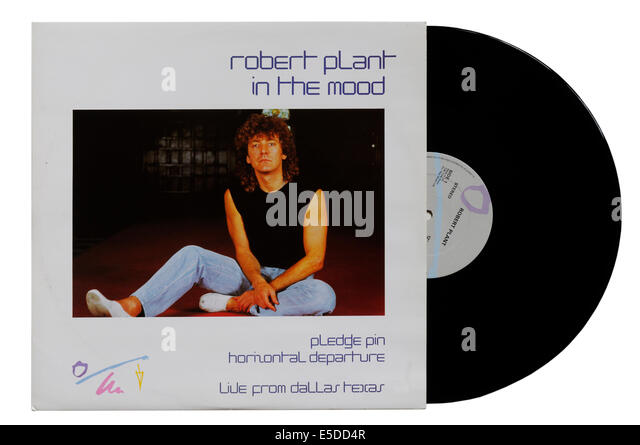 In the Mood 12' single by Robert Plant - Stock Image