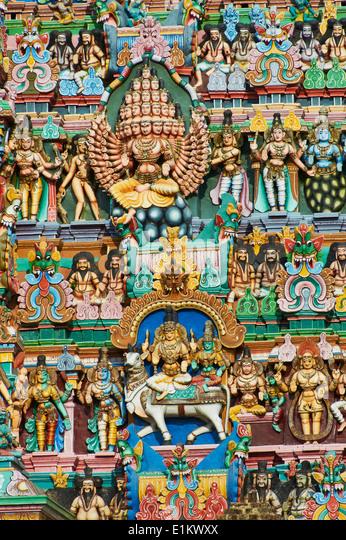 India, Tamil Nadu, Madurai, Sri Meenakshi temple - Stock Image