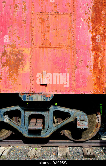 Old railroad boxcar - Stock Image