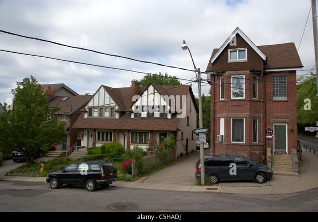 Toronto Victorian Houses Stock Photos Toronto Victorian