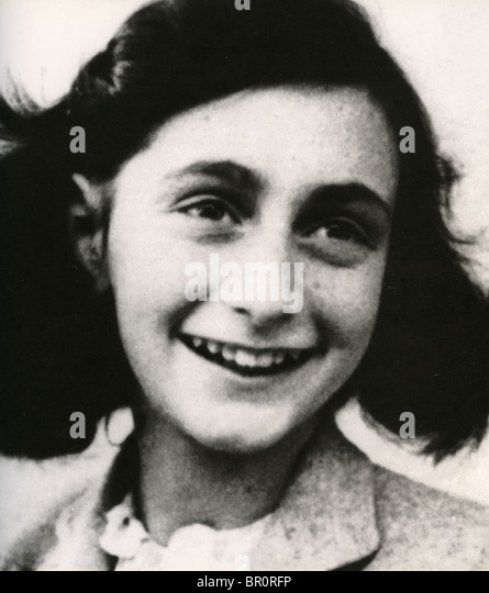 ANNE FRANK (1929-1945)  Jewish Dutch Holocaust victim - Stock-Bilder