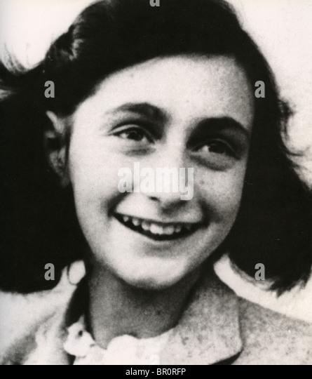 ANNE FRANK (1929-1945)  Jewish Dutch Holocaust victim - Stock Image