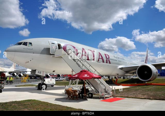 Qatar Airways Boeing 777 - Stock Image