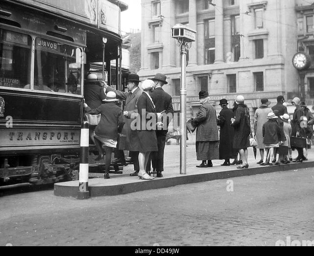 Edinburgh Tram probably 1940s - Stock Image