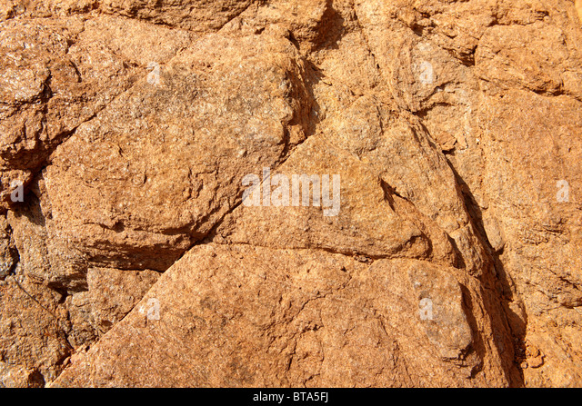 The layers of Sandstone on Ios Island Greece - Stock Image