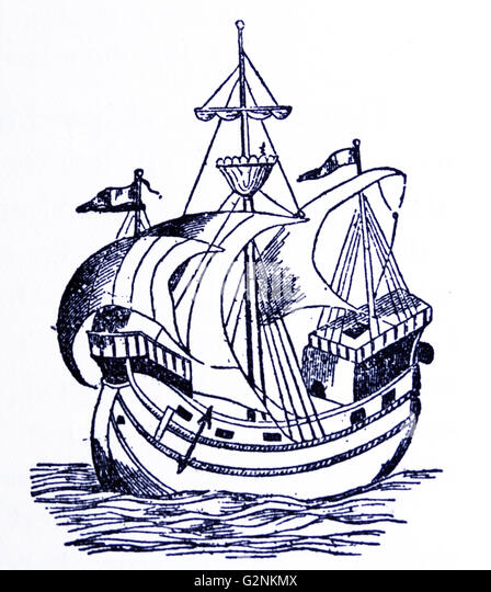 A ship of the 16th century. - Stock Image