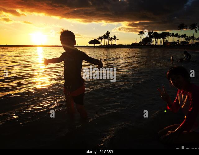 sunset in Hawaii - Stock-Bilder