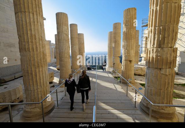 Propylaea, the Acropolis, Athens, Greece, Europe - Stock-Bilder
