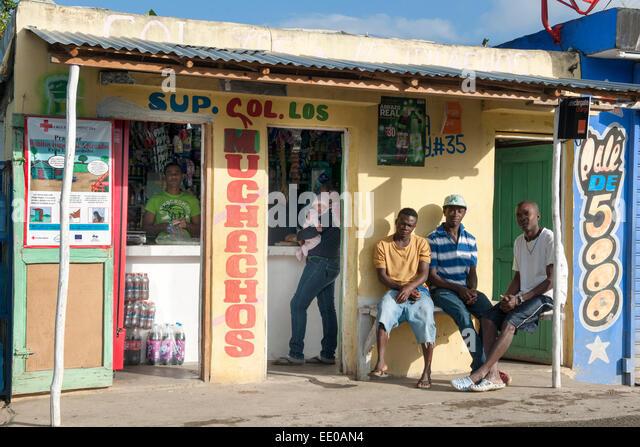 Dominikanische Republik, Südwesten, Rancho Arriba östlich von San Jose de Ocoa an der Strasse zur Autopista - Stock Image