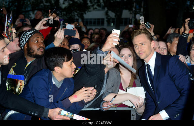 Tom Hiddleston  at the BFI London Film Festival, Festival Gala of HIGH-RISE, at the odeon, Leicester Square in London, - Stock-Bilder