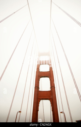 Golden gate Bridge, low angle view - Stock Image