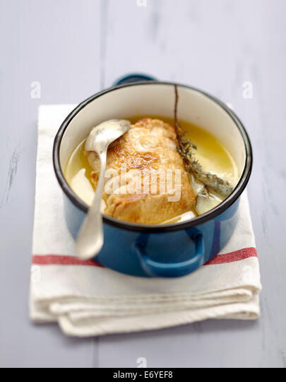 Roast pork with thyme - Stock Image
