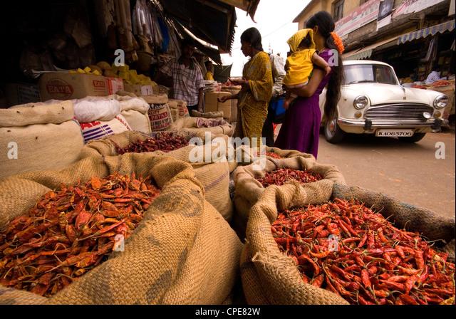Bangalore Market, Karnataka, India, Asia - Stock-Bilder
