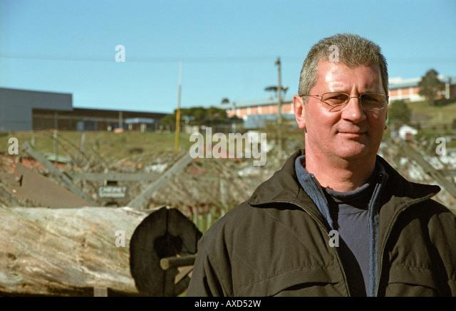 The oenologist Vaccaro Lourenco at Georges Aubert Winery, Bairro Cairu, Garibaldi, southern Brazil - Stock Image