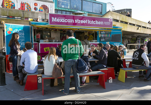 Mexican Street Kitchen - South Bank - London - Stock Image