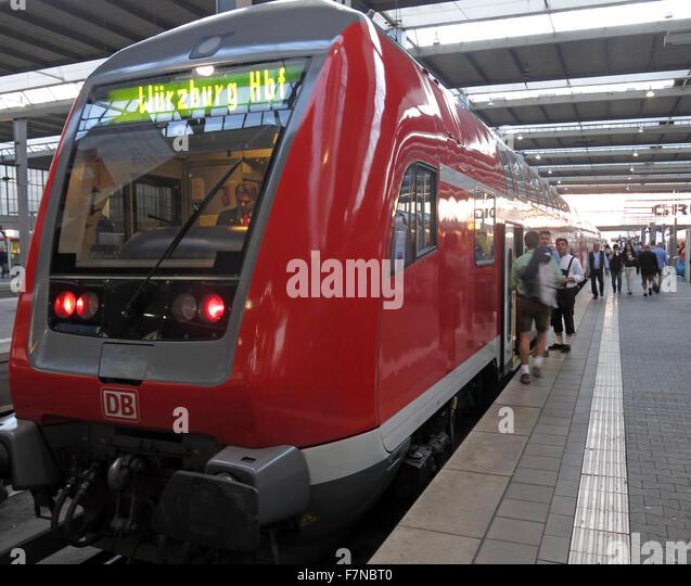 München Hauptbahnhof,Wurzburg train - Stock Image