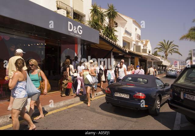 Spain Puerto Banus Marbella Andalucia - Stock Image