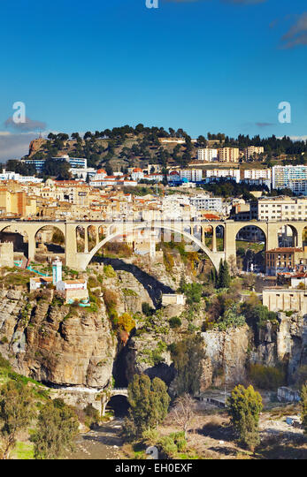Constantine, the third largest city of Algeria - Stock Image